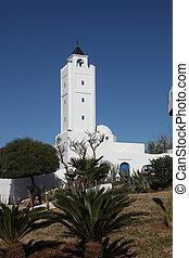 tunisia-sidi, powiedziany, bou, meczet