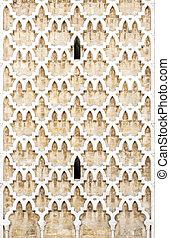 Tunisian architecture, pattern detail from the minaret, Tunis, Tunisia