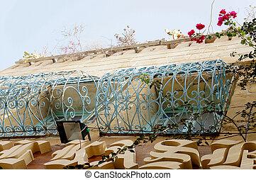 tunisino, tradizionale, costruzione