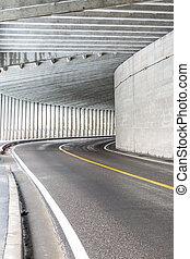 tunnel, à, montagne