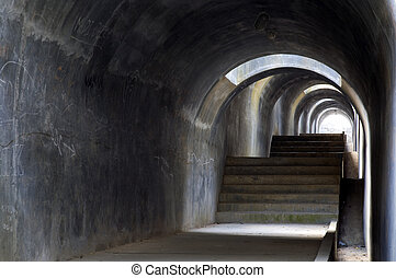 Tunnel 1 - Tunnel with light at the end