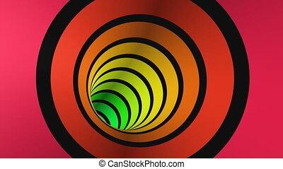 tunnel, 1, viaggio, 3d