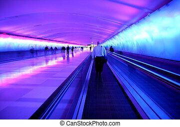 tunnel, aéroport