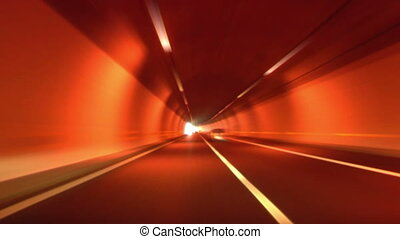 tunnel abstract speed 04 - Driving through tunnel, abstract...