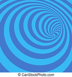 tunnel, abstract, verdraaid, illustratie, blauwachtig,...