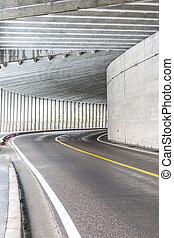 tunnel, an, berg