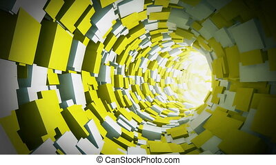 Tunnel Animation - Infinite tunnel of cubes. Looped video.