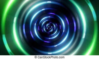 tunnel, anneau, vert, hd