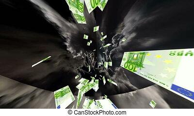 tunnel, argent, euro, cash-flow