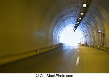 Tunnel at Egnatia international highway, Greece