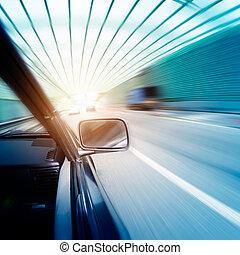 tunnel, autos, schnell