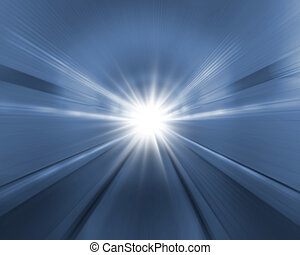 tunnel background with light
