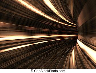 tunnel, begreb, hastighed, /, sløre