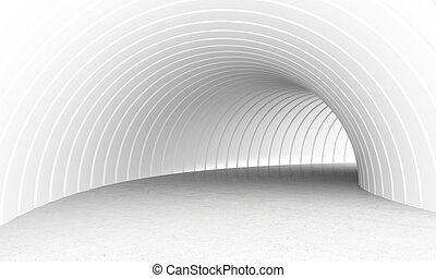 tunnel, bianco