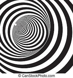 tunnel, bianco, nero, sollievo