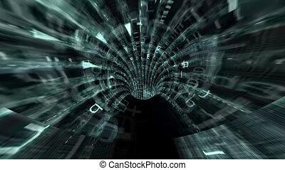 tunnel, binärer, durch, fahren, daten