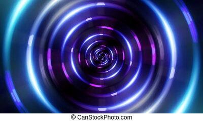 tunnel bleu, anneau, hd