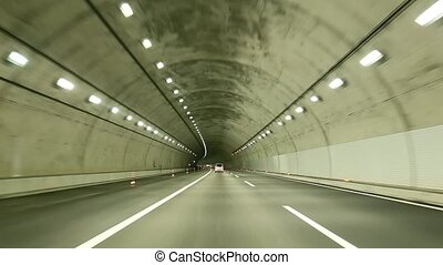 tunnel, conduire