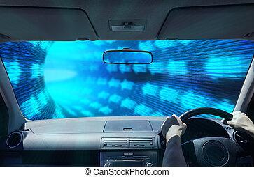 tunnel, conduite, numérique
