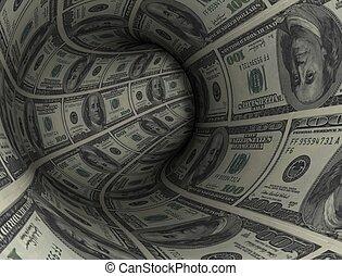 tunnel, dollar