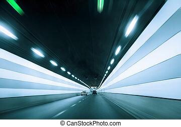 tunnel, dynamique, fond