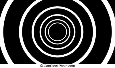 Concentric geometric shapes in seamless looping animation. HD 1920x1080, 30fps, 20sec