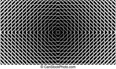 Concentric geometric shapes in seamless looping animation. HD 1920x1080, 30fps