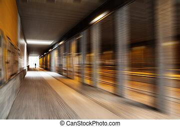 tunnel, effekt, verwischen