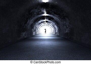 tunnel, fantôme