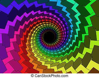 tunnel, flerfärgad, 3