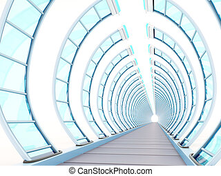 tunnel futuristic ribbing