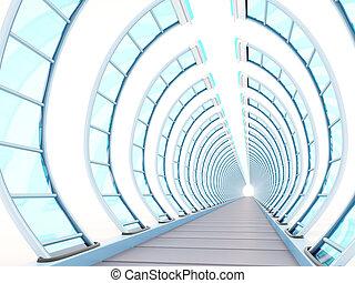 tunnel futuristic ribbing