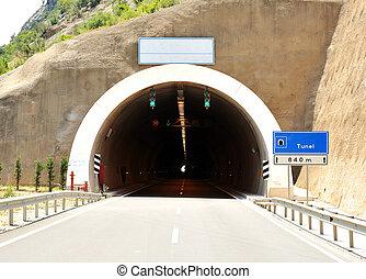 tunnel, gebäude