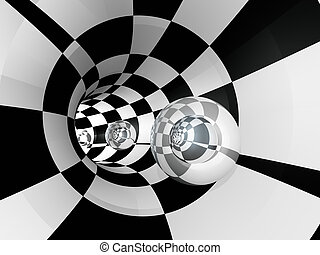 tunnel, glob, kontrollör, glas