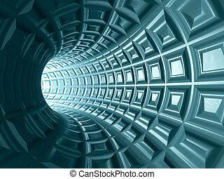 Tunnel Grid Background