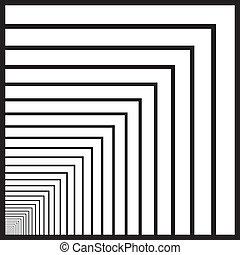 tunnel, hand, black , perspectief, aflopend, pleinen, links