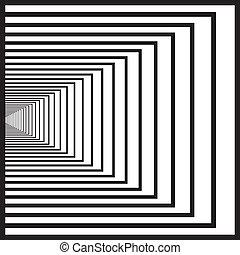 tunnel, hand, middelbare , black , perspectief, pleinen, links