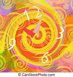 tunnel, horloge, temps