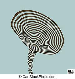tunnel., illustration., abstratos, experiência., vetorial, illusion., óptico, listrado, 3d