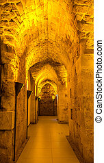 Tunnel in Acre Citadel - Israel