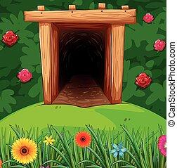 Tunnel in the bush