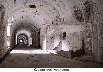 tunnel, ind, en, bunker, i, den, osoppo, fæstning