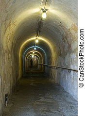 tunnel inside fort san cristobal san juan - tunnel inside...