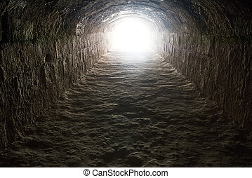 tunnel, licht, einde