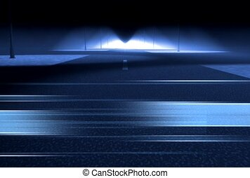 tunnel, light, drive,