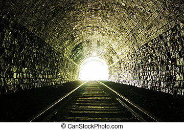 tunnel, luce, fine