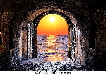 tunnel, mer