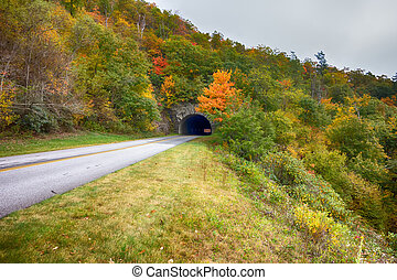 Tunnel on the Blue Ridge Parkway in North Carolina