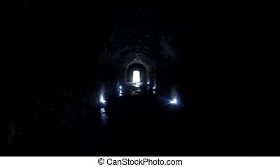 Tunnel or passage way within the walled city. - Tunnel or...
