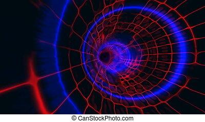 tunnel plasma blue red